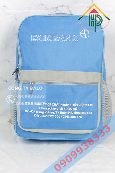 Balo quảng cáo Exibank Tại công ty may Hợp Phát