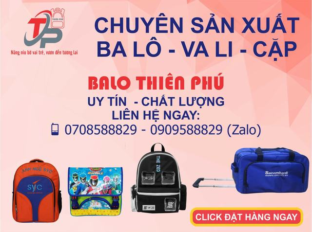 Liên hệ Công ty Balo túi xách Thiên Phú