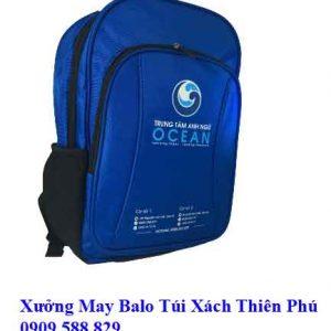 Balo học sinh Anh Ngữ OCEAN HS10 mặt hông
