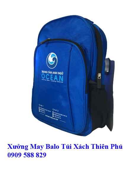 Balo học sinh Anh Ngữ OCEAN HS10 mặt bên